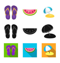 isolated object of equipment and swimming logo vector image