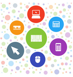 keyboard icons vector image