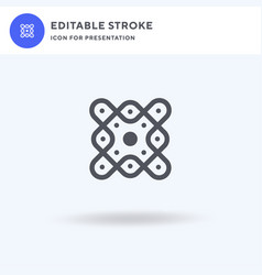 Kolam icon filled flat sign solid vector