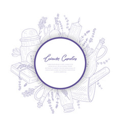 lavender cosmetics banner template perfumes and vector image