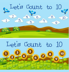 Lets count to 10 scenes vector