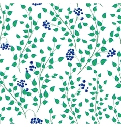 Little green leaves seamless pattern vector
