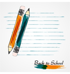 orange and blue pencils vector image