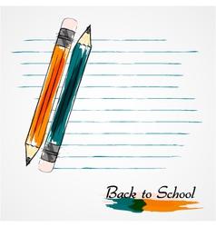 Orange and blue pencils vector