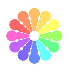 Partly transparent rainbow spectrum color circles vector