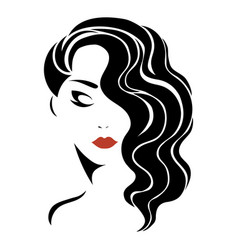 portrait a girl head a beautiful girl face vector image