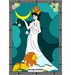 priestess card vector image