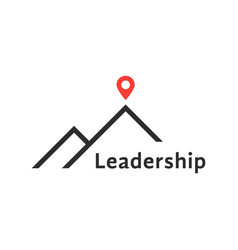 Reaching the top like leadership logo vector