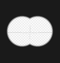 Realistic binoculars view vector