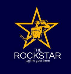 Rockstar man symbol version 1 vector