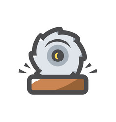 sawmill saw wood icon cartoon vector image