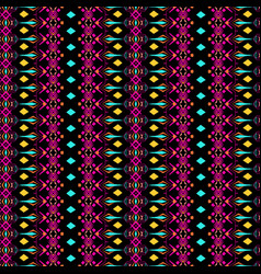 seamless texture tribal geometric striped pattern vector image