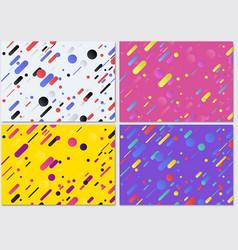 set of geometric background pattern vector image