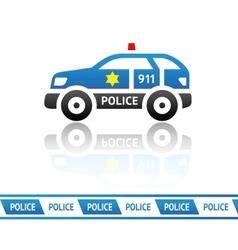 Sheriffs patrol car vector