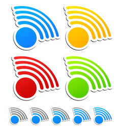 signal graphics for wireless technology vector image