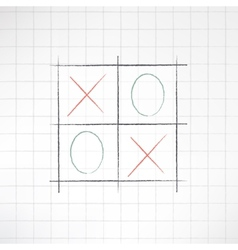 Sketch tic-tac-toe icon made in modern flat design vector image