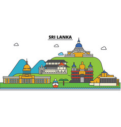 Sri lanka city skyline architecture buildings vector