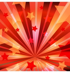 stars and radiating rays vector image