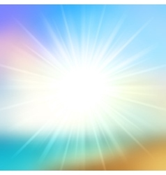 Summer Background Sky and Sun Light with Lens vector