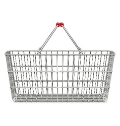Supermarket basket vector