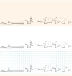 The hague hand drawn skyline vector