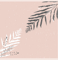 tropical worn floral pastel pink blush pattern vector image
