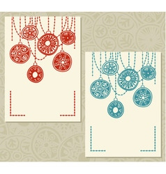Two card templates vector