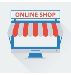 Two-tone icon online store vector