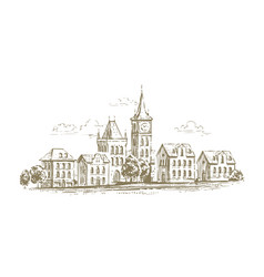 urban landscape cityscape sketch town vector image