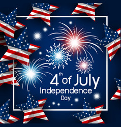 Usa 4th july happy independence day vector