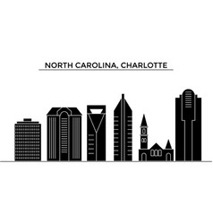 Usa north carolina charlotte architecture vector