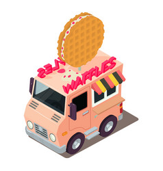 Waffles machine icon isometric style vector