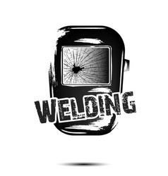 Welding and abstract mask of a welder vector