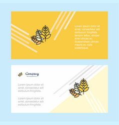 wheat abstract corporate business banner template vector image
