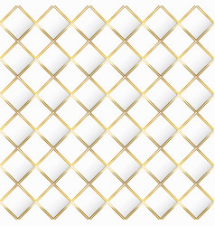 white color mosaic with gold frame seamless vector image