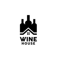 Wine house logo design inspiration vector