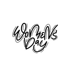 women day sketchy brush postcard design vector image