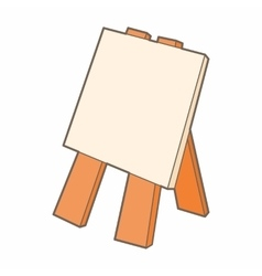 Wooden easel icon cartoon style vector image