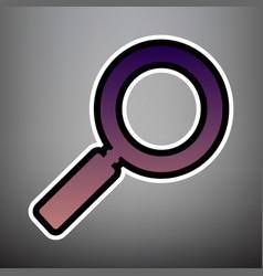 Zoom sign violet gradient vector