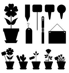 flower labels vector image vector image