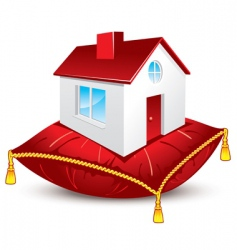 house on pillow vector image vector image