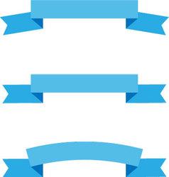 Ribbon flat style set vector image vector image