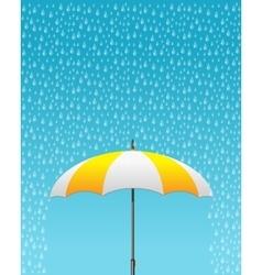 striped opened umbrella vector image