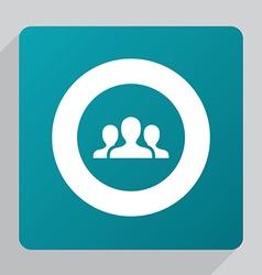 flat team icon vector image