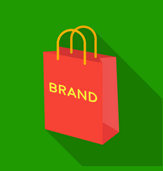 shopping bag icon in flat style isolated on white vector image