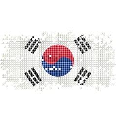 South Korea grunge tile flag vector image vector image