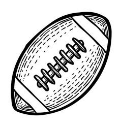 cartoon image of rugby icon sport symbol vector image