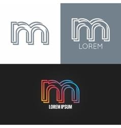 letter M logo alphabet design icon set background vector image vector image