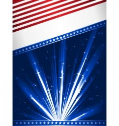 stylised usa flag vector image vector image