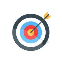 target with arrow goal achieve concept premium vector image vector image